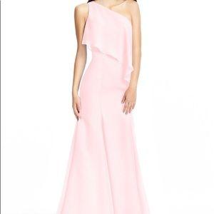Azazie Nadia Bridesmaid Dress in blushing pink